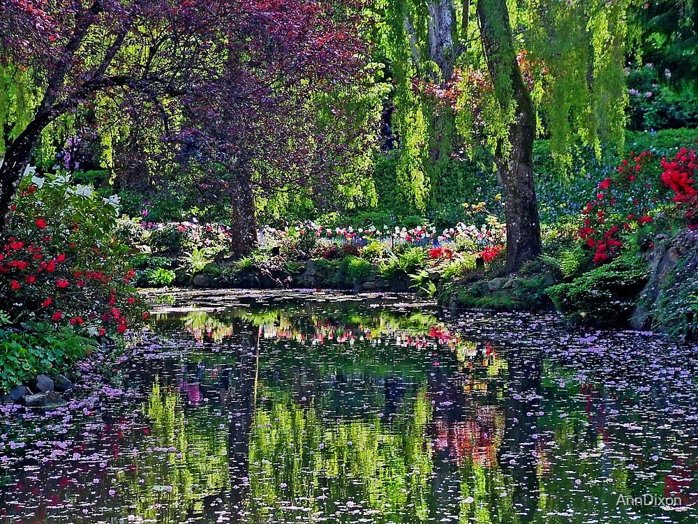 Butchart Gardens in Springtime by AnnDixon