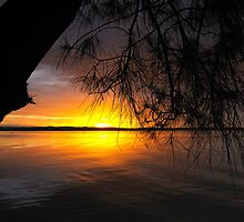 Sunset Over Water by vilaro Images