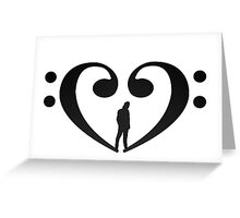 Avi Kaplan Bass Heart Greeting Card