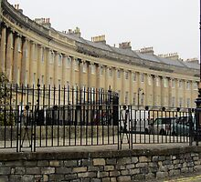 The Royal Crescent in Bath - Closer view by janrique