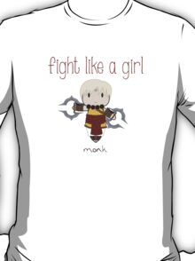 Fight Like a Girl - Monk | Diablo 3 T-Shirt