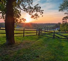 Pennsylvanian Summer Sunset by David Lamb