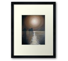 Chocolate sunset - Faraglioni, Capri Framed Print