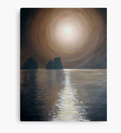 Chocolate sunset - Faraglioni, Capri Canvas Print