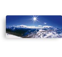 Sunburst over Mt Feathertop and Mt Jaithmathang Canvas Print