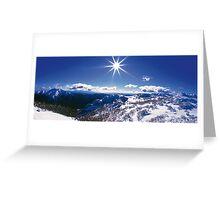 Sunburst over Mt Feathertop and Mt Jaithmathang Greeting Card