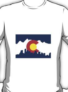 Colorado Skyline and Mountains T-Shirt