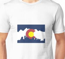 Colorado Skyline and Mountains Unisex T-Shirt