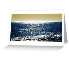 What's over the horizon? (Cottesloe Beach, Western Australia) Greeting Card