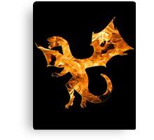 Flaming Dragon Canvas Print