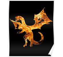 Flaming Dragon Poster