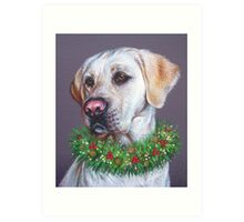 Christmas Lab Art Print