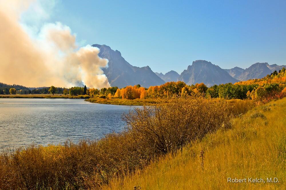 Fires in Grand Teton - 2 by Robert Kelch, M.D.