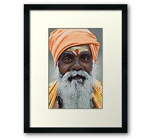 Sadhu - Acrylic Painting Framed Print