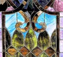 Old Stained Glass Window Sticker