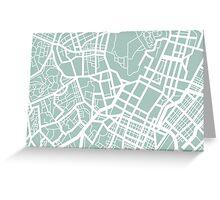 Minimal Maps - Tokyo J.P. Greeting Card