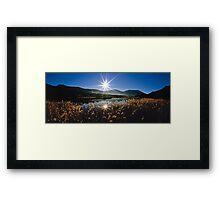 Tidal River Sunburst Framed Print