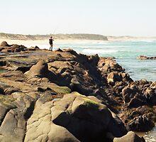 rock fishing by Barbara Fischer