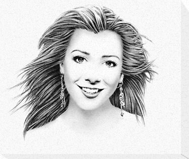 Alyson Hannigan Portrait by wu-wei