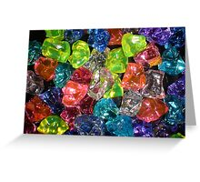 Coloured Glass Pieces Greeting Card