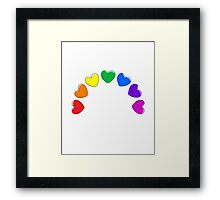 Heart Rainbow Framed Print