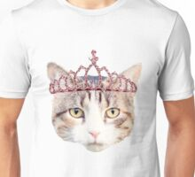 Cat with a Pink Tiara Unisex T-Shirt