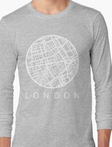Minimal Maps - London U.K Long Sleeve T-Shirt