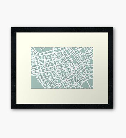 Minimal Maps - London U.K Framed Print
