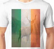 Irish red deer double exposure Unisex T-Shirt