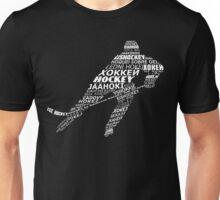 Typographic Hockey Languages   Unisex T-Shirt