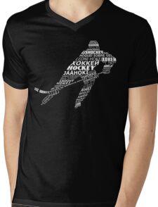 Typographic Hockey Languages   Mens V-Neck T-Shirt