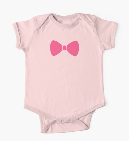 Pink Bow One Piece - Short Sleeve