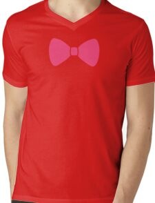 Pink Bow Mens V-Neck T-Shirt