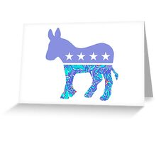 Preppy Democrat Greeting Card
