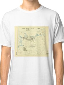 World War II Twelfth Army Group Situation Map July 15 1944 Classic T-Shirt