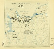 World War II Twelfth Army Group Situation Map July 15 1944 by allhistory