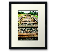 on track ! Framed Print