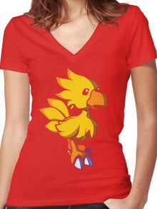 Kweh! Women's Fitted V-Neck T-Shirt