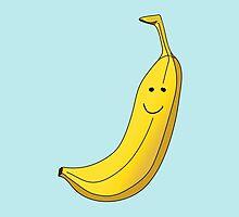 Banana Illustration. by Nathanael Mortensen