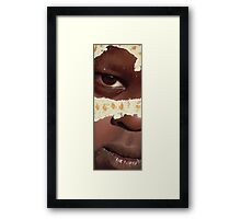 The Girl and the Fly - Acrylic Painting Framed Print