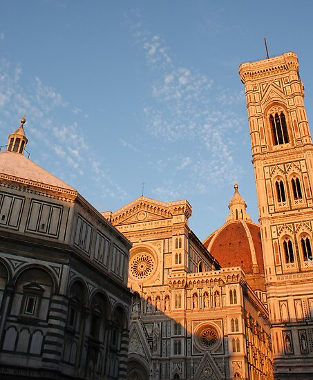 Baptistery, the Duomo, and Giotto's Bell Tower by Kent Nickell