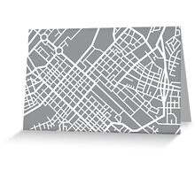 Minimal Maps (Grey) - Cape Town S.A. Greeting Card