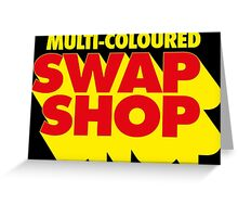 Multi-Coloured Swap Shop Greeting Card
