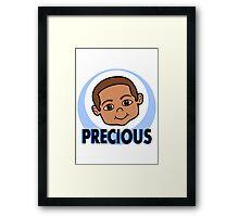 Cute Cartoon Smiling Boy Framed Print