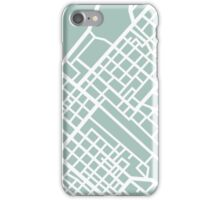 Minimal Maps (Green) - Cape Town S.A. iPhone Case/Skin