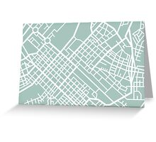 Minimal Maps (Green) - Cape Town S.A. Greeting Card