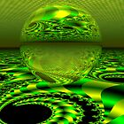 Crazy for Green by Sandra Bauser Digital Art