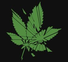 Marijuana Leaf cut to pieces T-Shirt