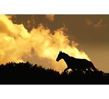 He Gallops Through The Heavens Photographic Print