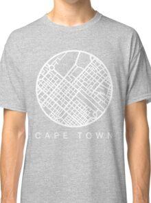 Minimal Maps (Grey) - Cape Town S.A. Classic T-Shirt